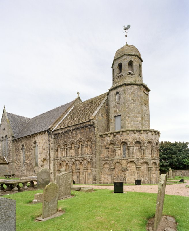 View of tower and apse from south east
