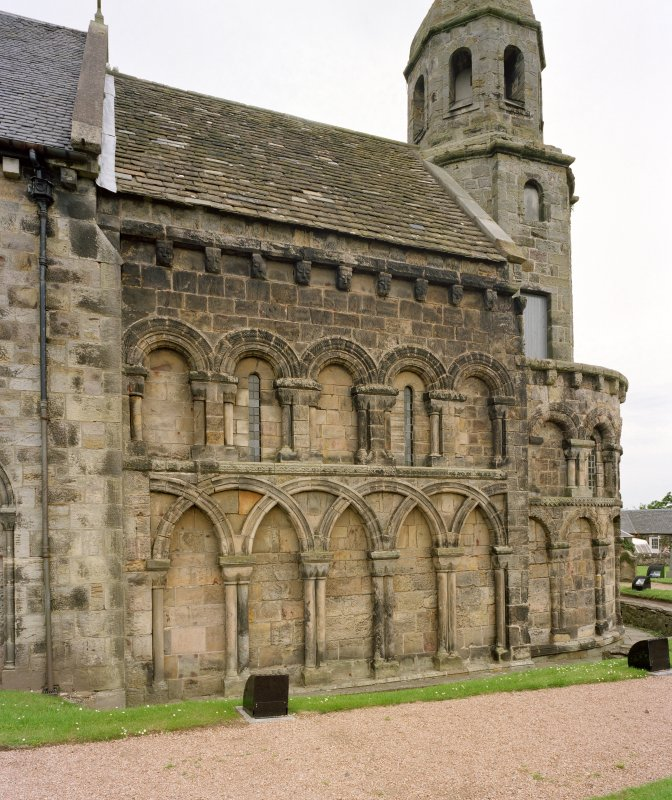 View of chancel and apse from south west