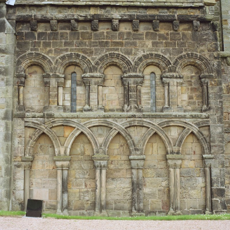 Detail of arcading on south side of chancel