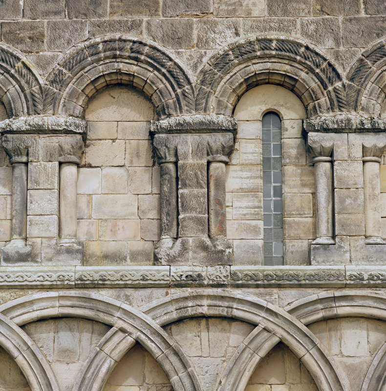 Detail of arcading on south wall of chancel