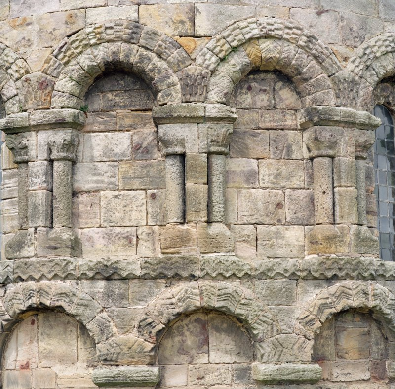 Detail of arcading on apse