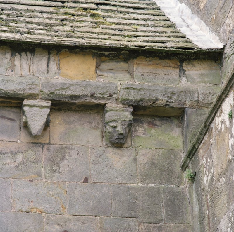 Detail of two corbels on north wall of chancel