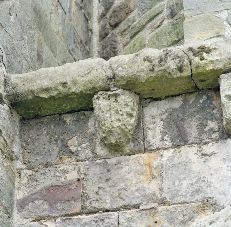 Detail of corbel on apse