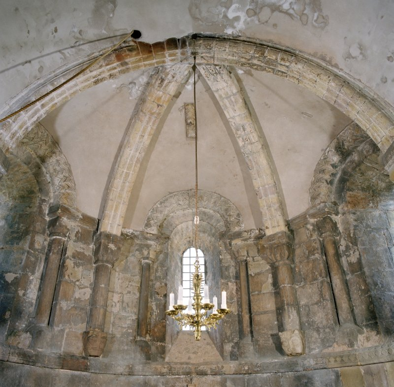 Interior. Detail of vaulting in apse