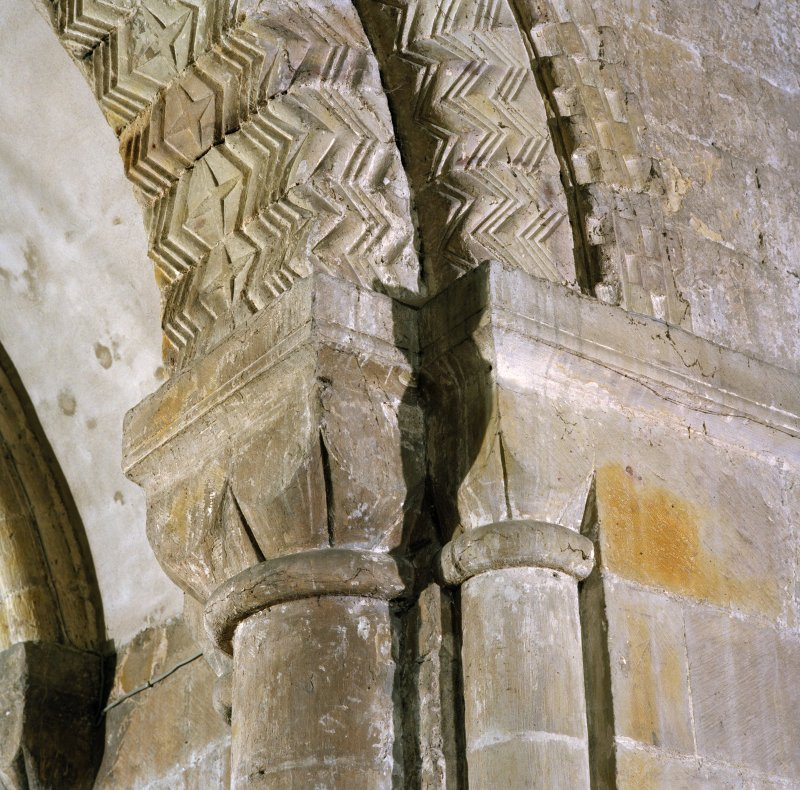 Interior. Detail of moulding on apse arch