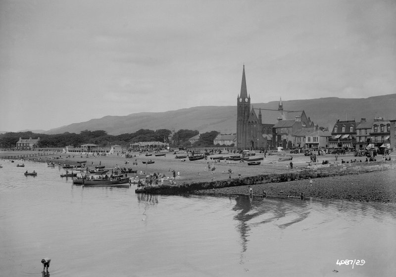 General view of Largs from sea.