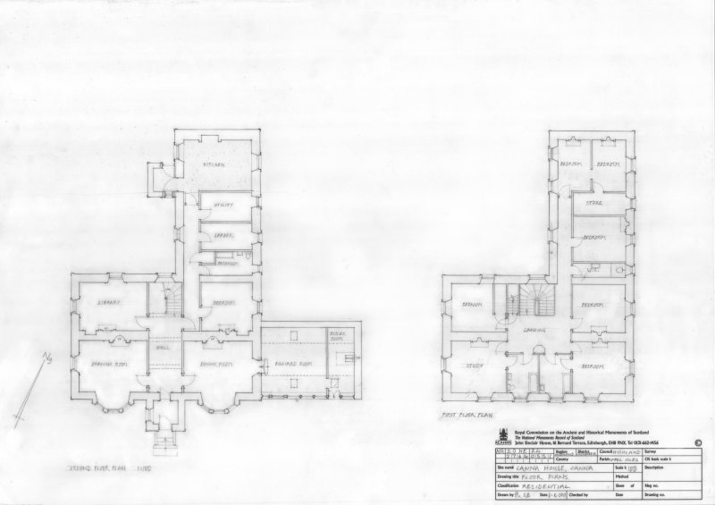 Canna House, floor plans