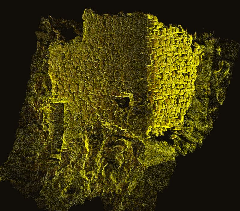Coroghan Castle - Image of HDS scan