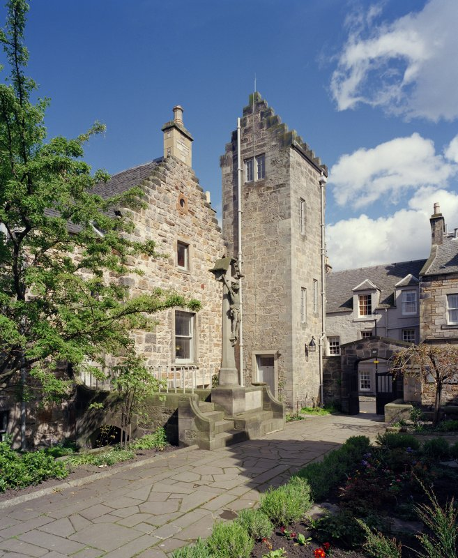 All Saints Episcopal Church.  View of Castlewynd House from West.