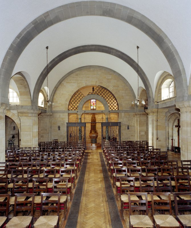 All Saints Episcopal Church, interior.  View of nave from East.