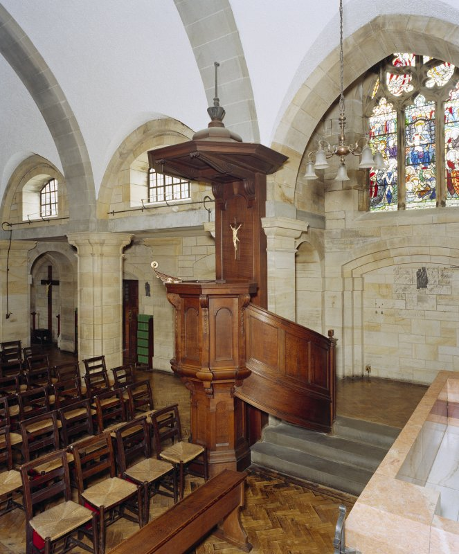 All Saints Episcopal Church, interior.  View of pulpit from South East.
