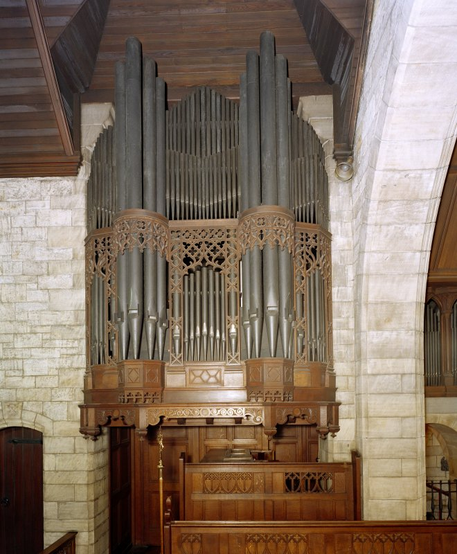 All Saints Episcopal Church, interior.  View of organ.