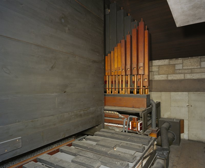 All Saints Episcopal Church, interior.  View of organ loft.
