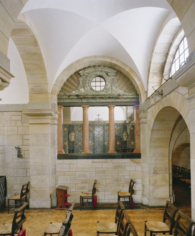All Saints Episcopal Church, interior.   North side chapel, view from Nave (South).