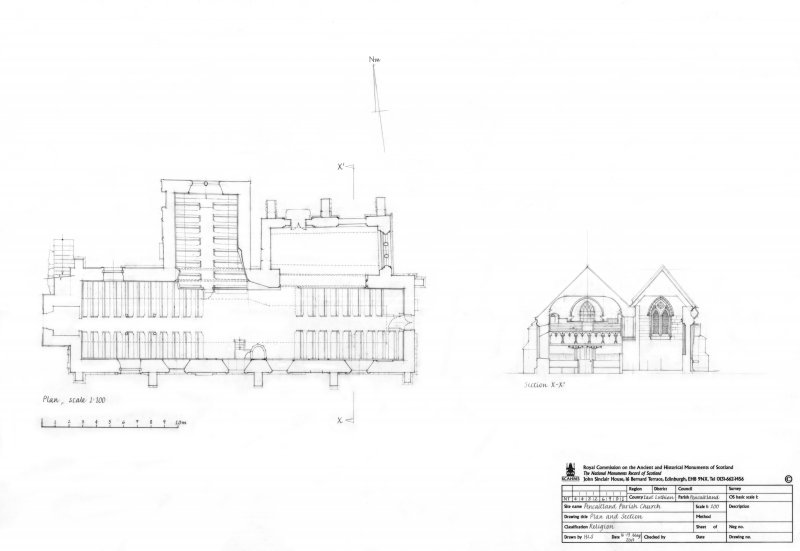 Pencaitland Parish Church: Plan and section
