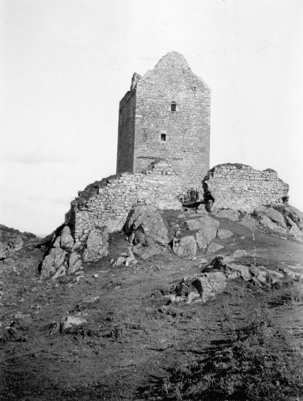View of Smailholm Tower. Titled: 'Smailholm Tower. R H Dodd. 1927'.