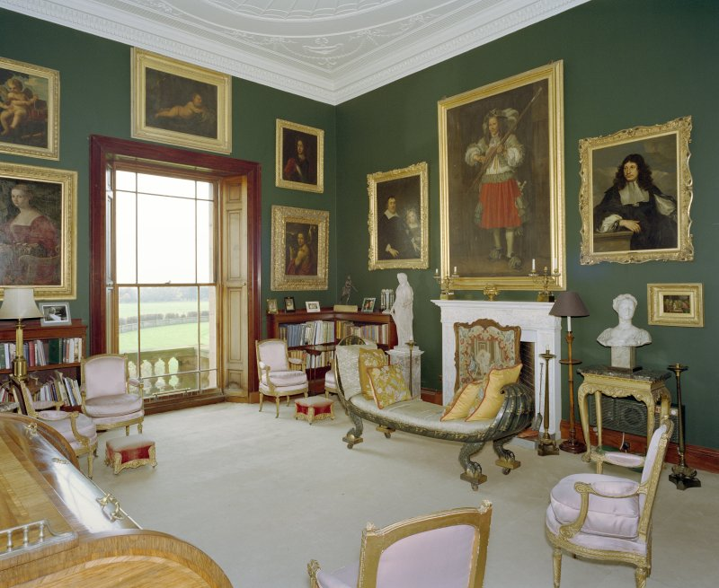 Interior.  View of first floor sitting room.