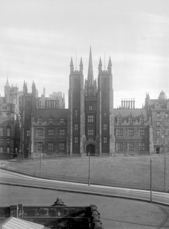 New College & Assembly Hall, Edinburgh. General view from the Mound