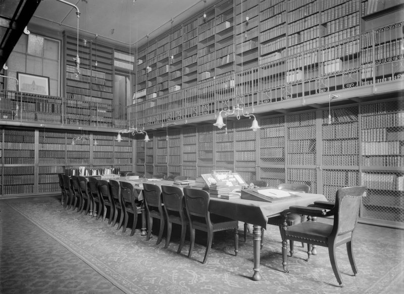 Interior-general view of library in Old College