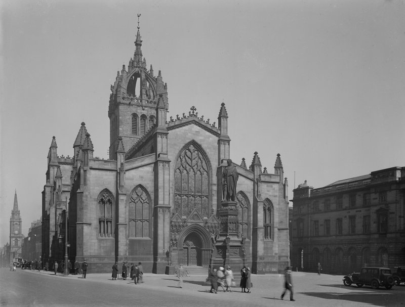 General view of St Giles Cathedral, Edinburgh, from North West