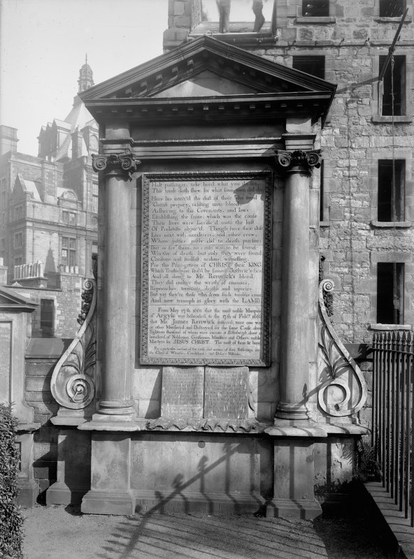 General view of Martyrs' Monument, Greyfriars Churchyard, Edinburgh.