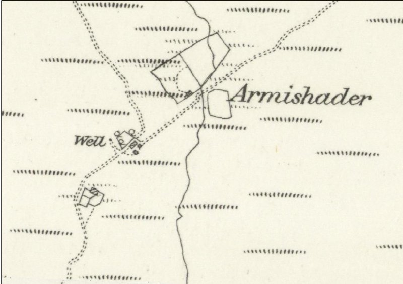 Armishader depicted on the 1st Edition of the OS 6-inch map (Inverness-shire, Island of Skye 1878, sheet xviii)