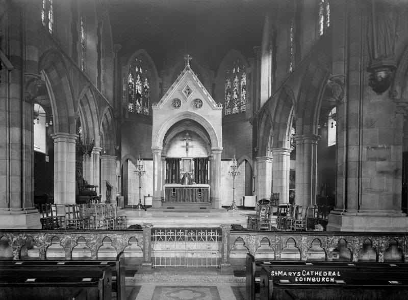 St Mary's R C Cathedral, interior View from East