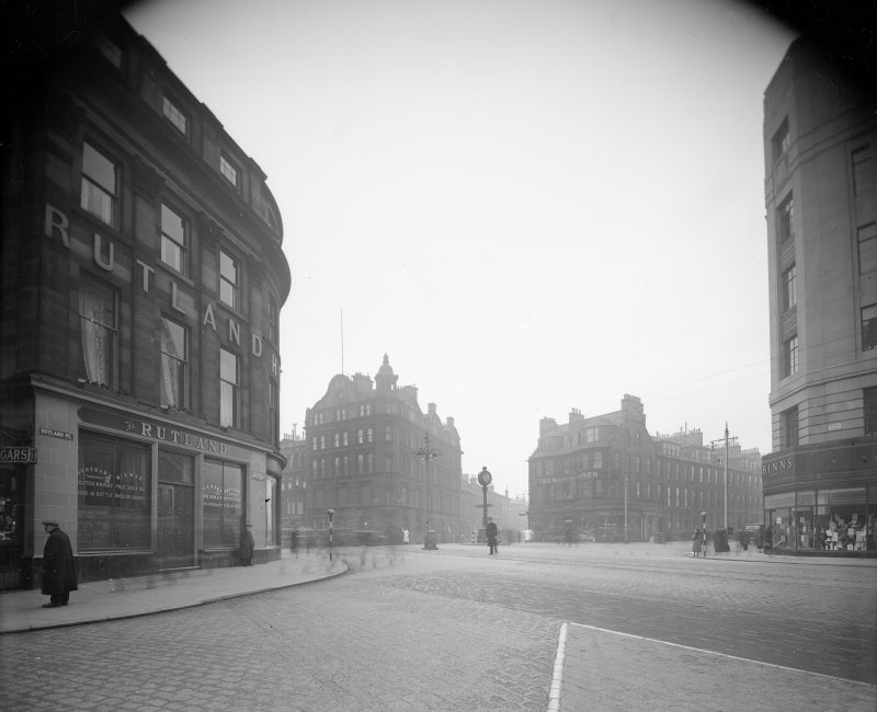 General view of west end of Princes Street showing Binns and Hope Street.