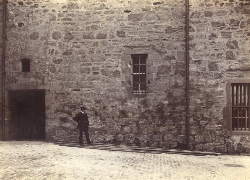 Historic photograph. View of ground level or 'vaults' of the Naval and Military Museum   Mount signed: 'Thomas Ross' and inscribed: 'Edinburgh Castle. December 1912'