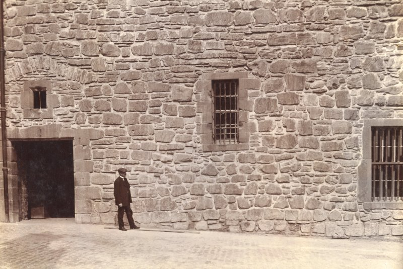 Historic photograph. View of ground level or 'vaults' of the Naval and Military Museum. Mount signed: 'Thomas Ross' and inscribed: 'Edinburgh Castle. December 1912'.