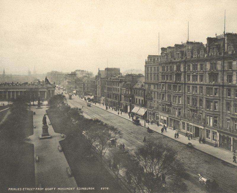 Historic phptpgraphic general view from Scott Monument looking W.