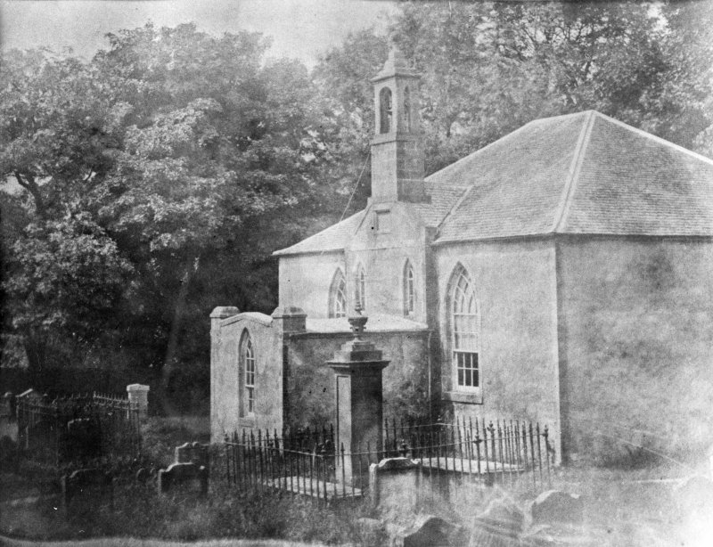 Modern copy of historic photograph showing general view of church in 1812.