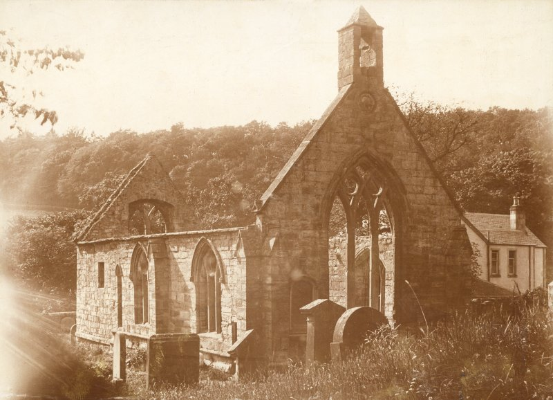 Historic photograph showing general view of ruinous church.