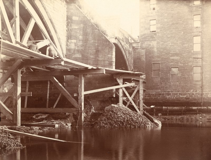 Historic photographic view of bridge from North-West.
