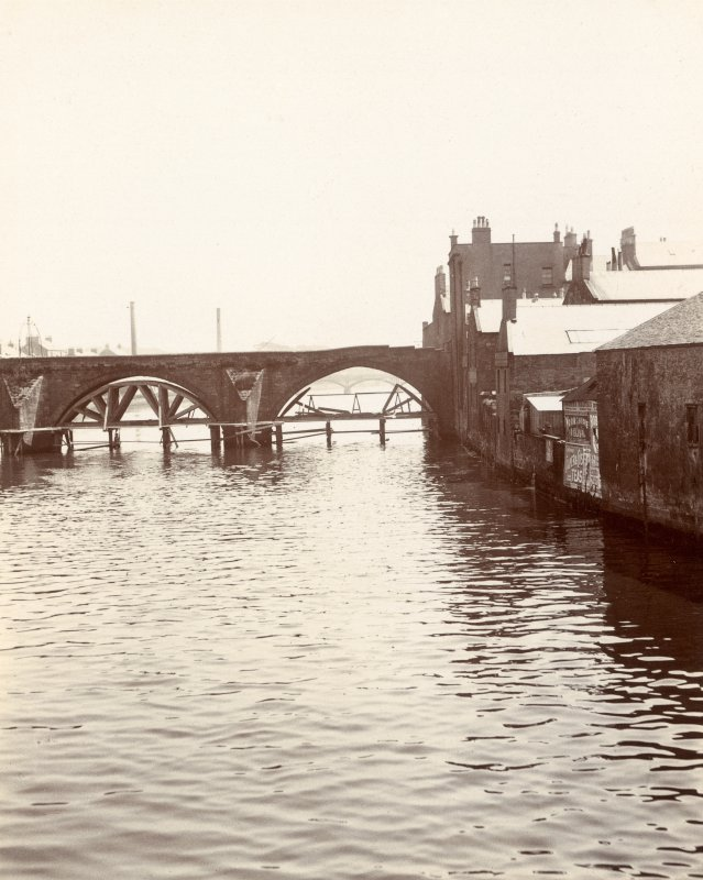 Historic photographic view of bridge from West.