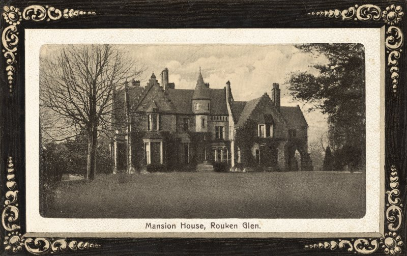 Historic photographic view of house.