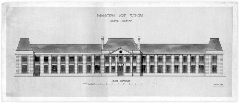 Design for South elevation, Edinburgh College of Art.