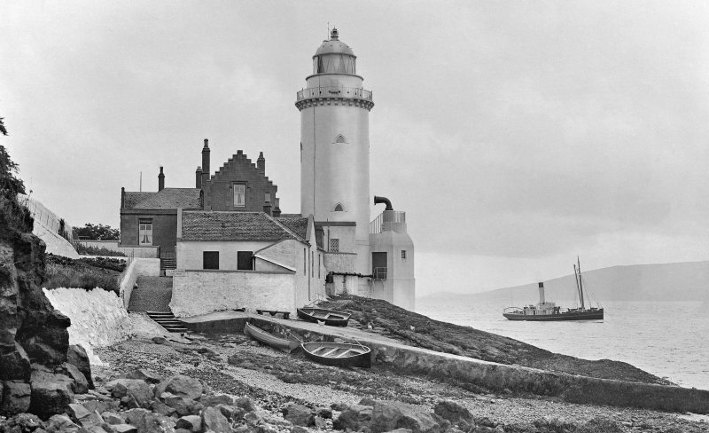 View of Cloch Lighthouse, Inverkip, from N.