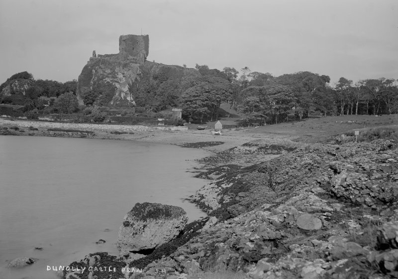 Distant view. Insc: 'Dunolly Castle, Oban. J.H.'