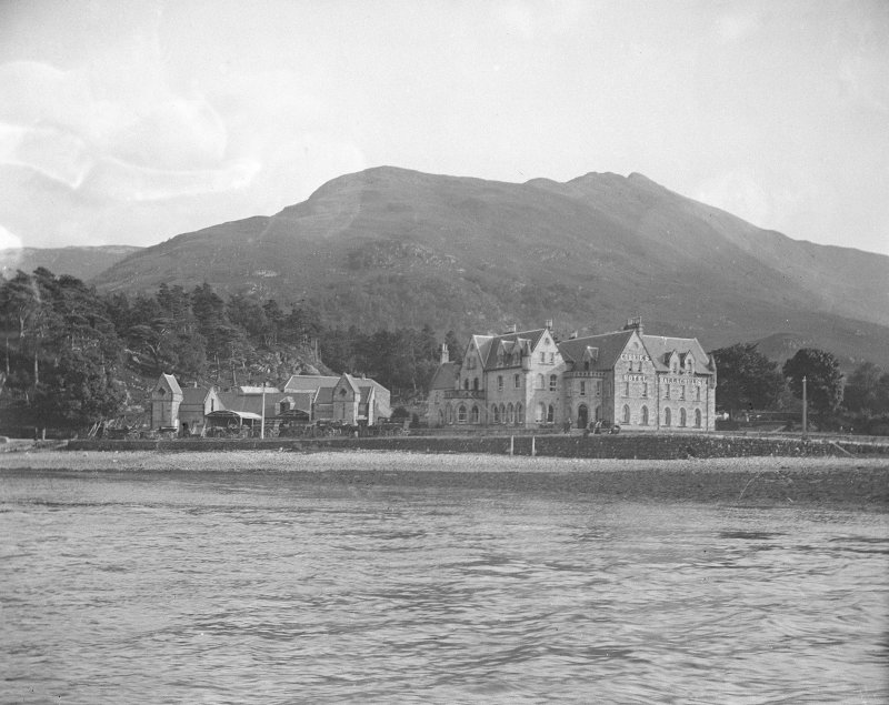 View of Ballachulish Hotel from the water.