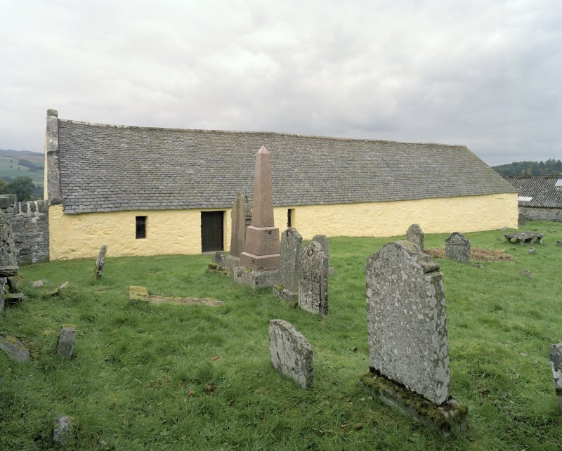 General view from graveyard to SSW