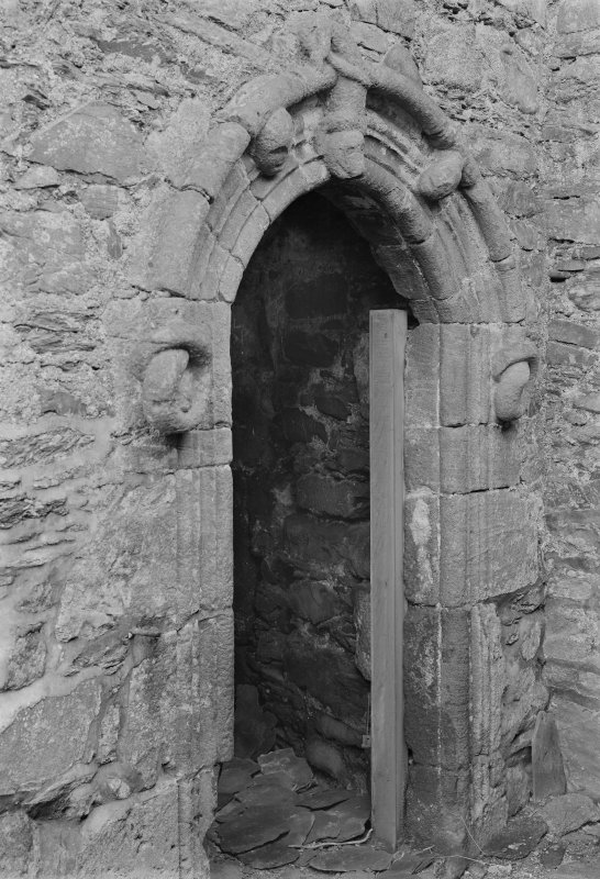 View of arched doorway.