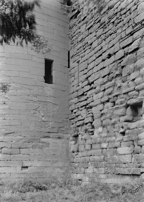 Detail of junction of valence Tower and East curtain wall.