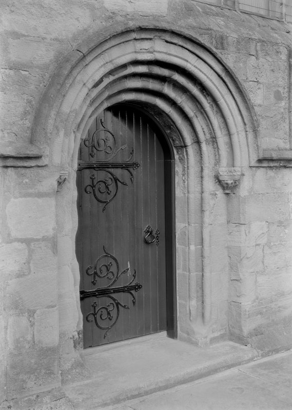 Detail of door to South transept.