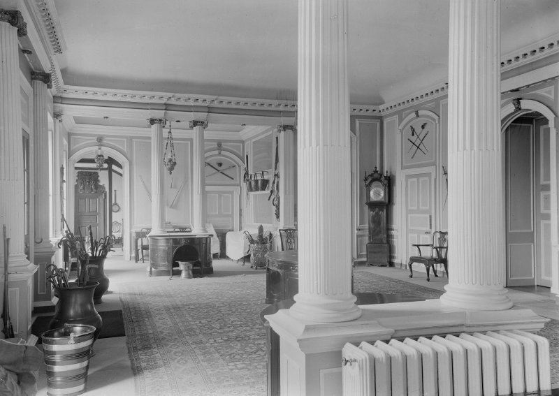 View of entrance hall, Kinross House.