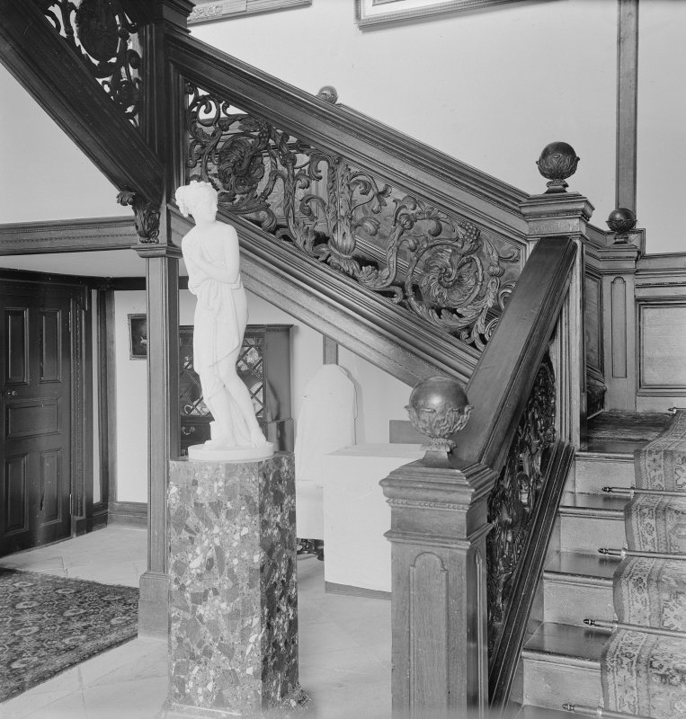 Interior, View of staircase.