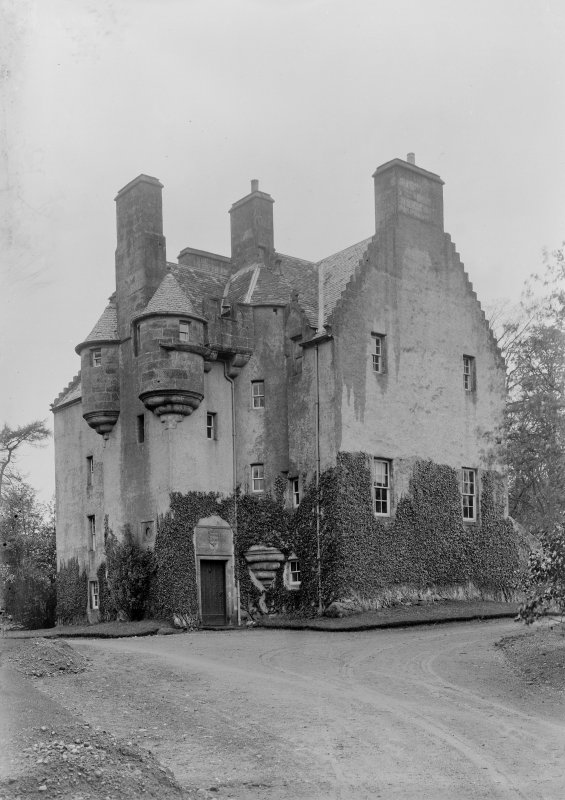 General view of Tullibole Castle from South-East.