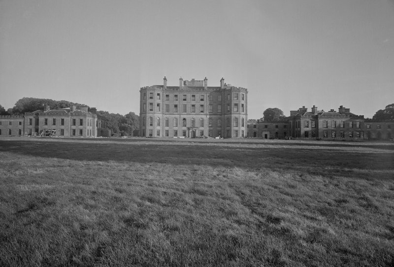 View of North front of Gordon Castle during demolition work