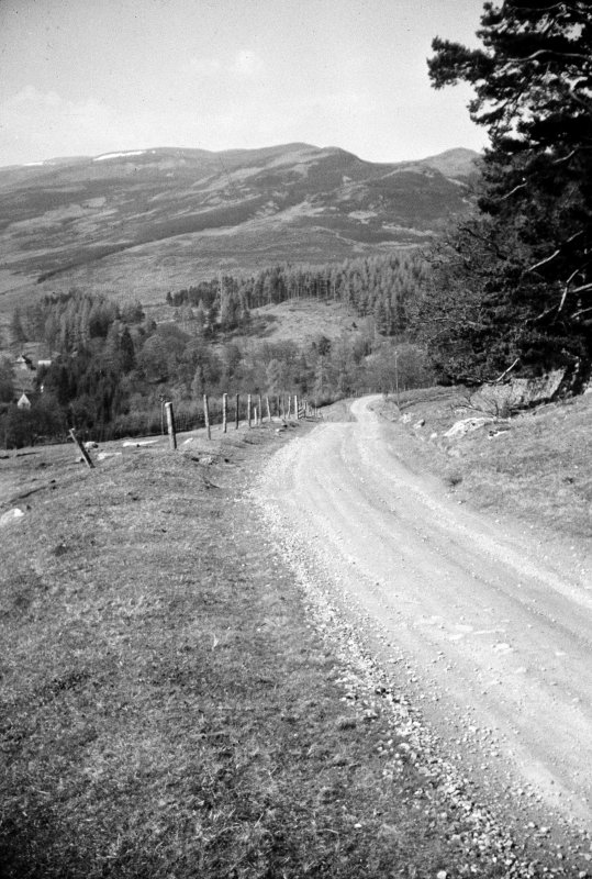 General view of the 'zig-zag' before tarmac. Near Trinafour, Crieff to Dalnacardoch Military Road.