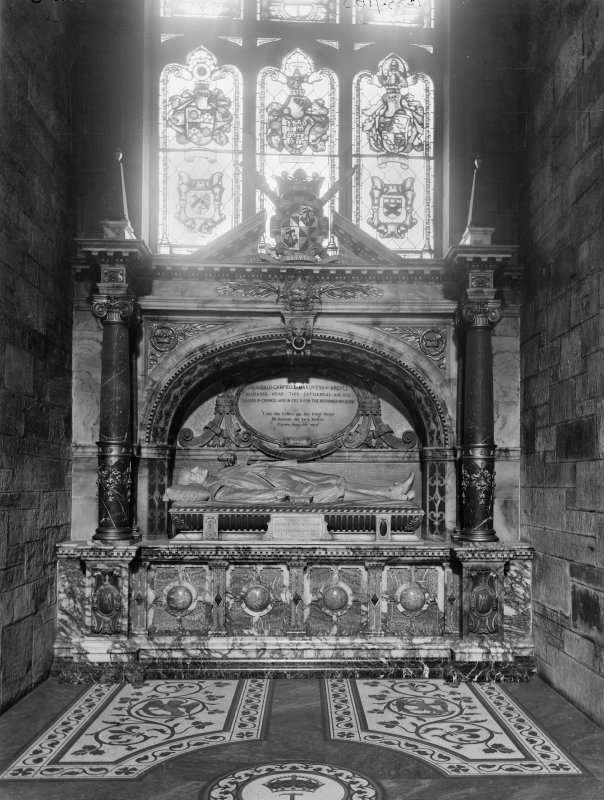 Interior- detail of Argyll Monument in St Elois' Chapel
